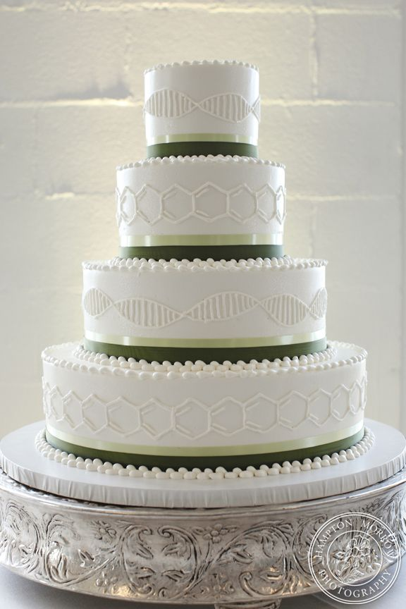 I LOVE this cake, except the colors.  The ribbon color is off and I don't like white on white.