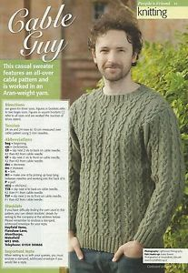 Knit a men's sleeveless V-neck sweater: free knitting pattern