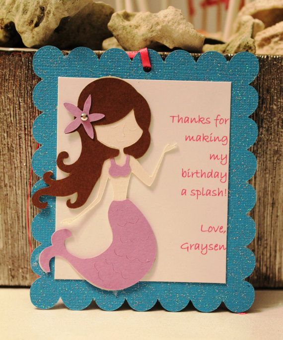 Mermaid Party Favor Tags - Personalized Favor Tags - Under the Sea Birthday - Mermaid Party Decorations - Mermaid Birthday