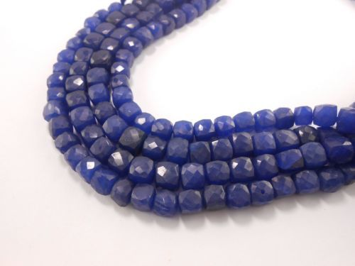 AAA-Blue-Zed-Cube-Faceted-Gemstone-Beads-Full-8-long-7-5mm-8mm-GT-2126-bead