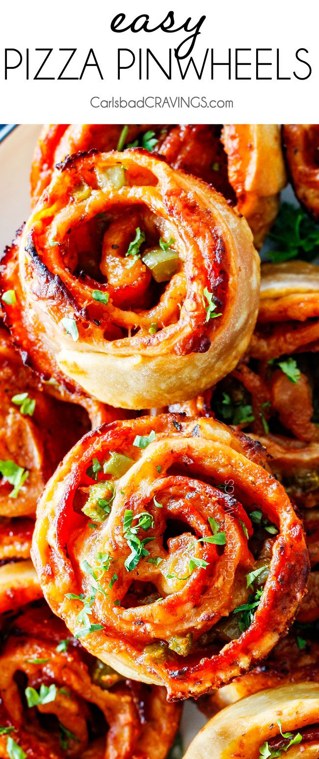 These Pizza Pinwheels are super easy to make, customizable, freeze beautifully, and absolutely irresistible for snacks, appetizers or fun meals! You friends and family will beg you to make these!
