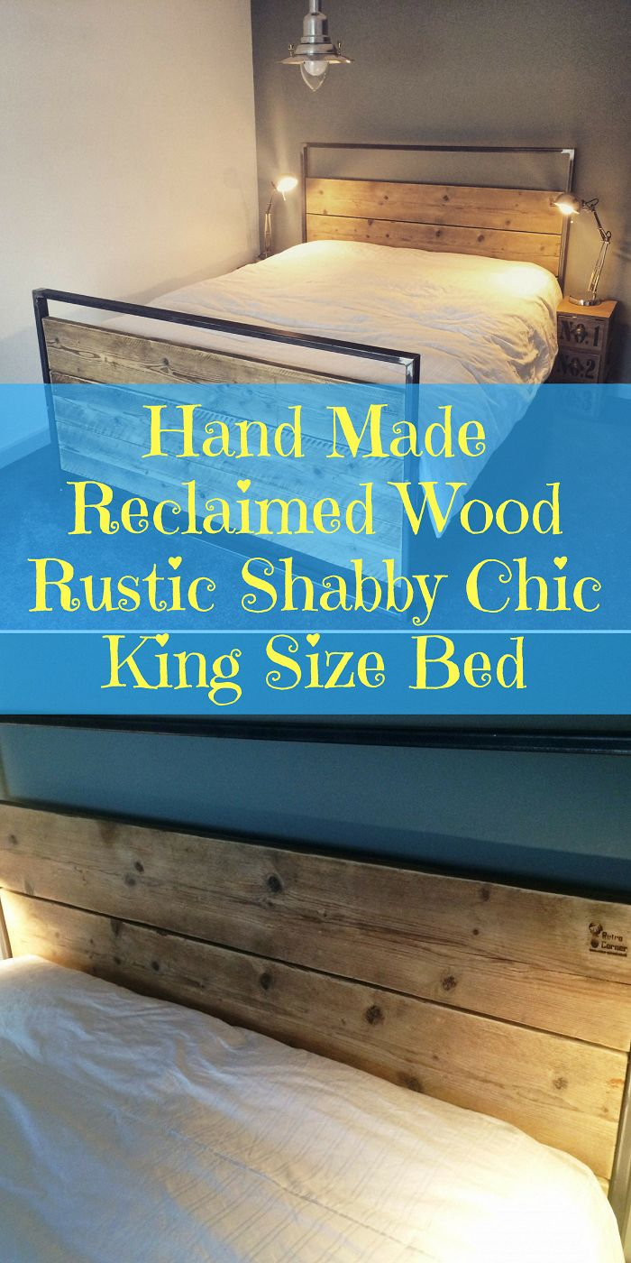 Hand Made Reclaimed Wood Rustic Shabby Chic King Size Bed || Etsy || Bedroom ideas, Bedroom ideas Master, Bedroom ideas For women, Bedroom ideas Grey,…