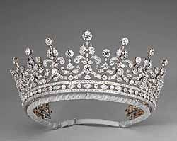 """The """"Girls of Great Britain"""" tiara, given to Queen Mary in 1893"""