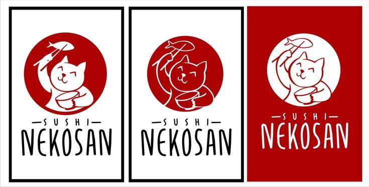 Logo for Sushi Nekosan a sushi store Modern, Colorful Logo Design by hbum
