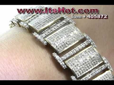 Men's Diamond Bracelet - Pave Round Diamonds - men diamond bracelets - http://jewelry.airgin.org/bracelets/mens-diamond-bracelet-pave-round-diamonds-men-diamond-bracelets/