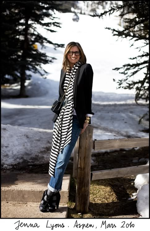 Jenna Lyons- Creative Director for J.Crew.: Fallwint Outfits, Style Inspiration, Style Icons, Stripes Scarfs, Jenna Lyons, Inspiration Fashion, Jennalyonspreviewjpg 357550, Inspiration Style, Stripes Scarves