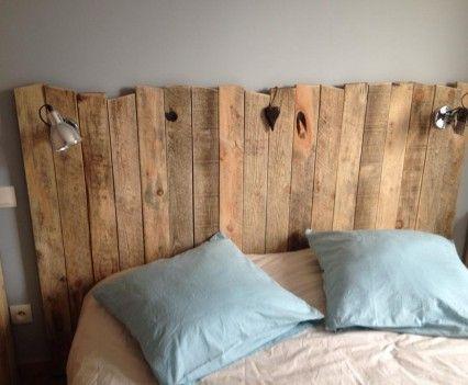 les 25 meilleures id es de la cat gorie tete de lit palette sur pinterest cadre de lit palette. Black Bedroom Furniture Sets. Home Design Ideas