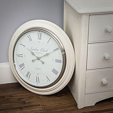large wall clock eleanor cream 54cm cool clocks