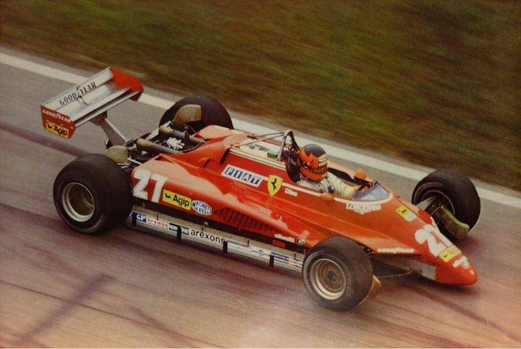 Gilles Villeneuve ~ Ferrari 126C2 ~ 1982 Brazilian Grand Prix