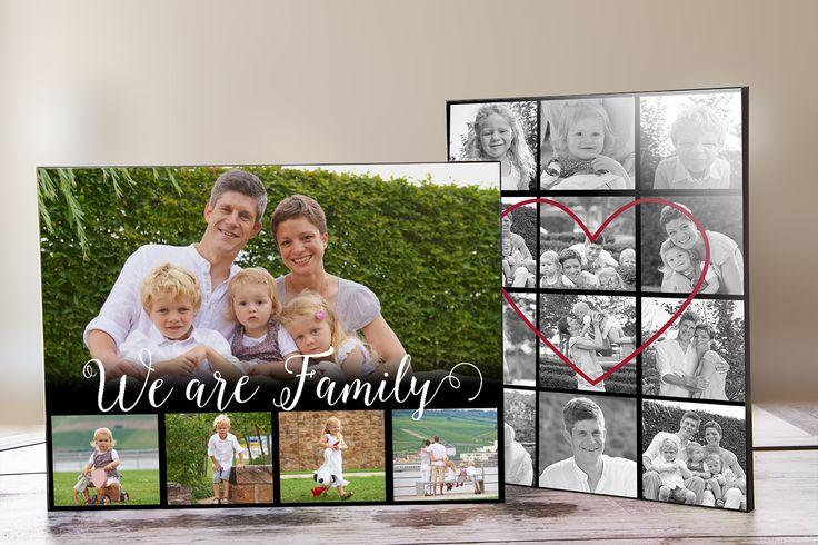 Ganz neu eingetroffen - unserer Fototafel! Hier kommen die Familienfotos besonders schön zur Geltung.