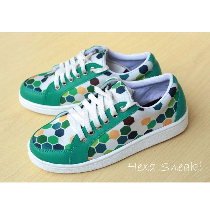 Hexa Sneaki #sneaker #shoes #fashion #hexagon #tosca #pattern #cute #handmade