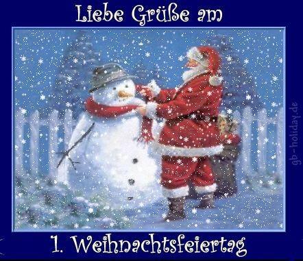 Liebe Grüße am 1. Weihnachtsfeiertag