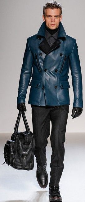 Belstaff Fall 2013 Menswear Jack's blue tone is exceptional. One hopes that the photographic image and the reality match!