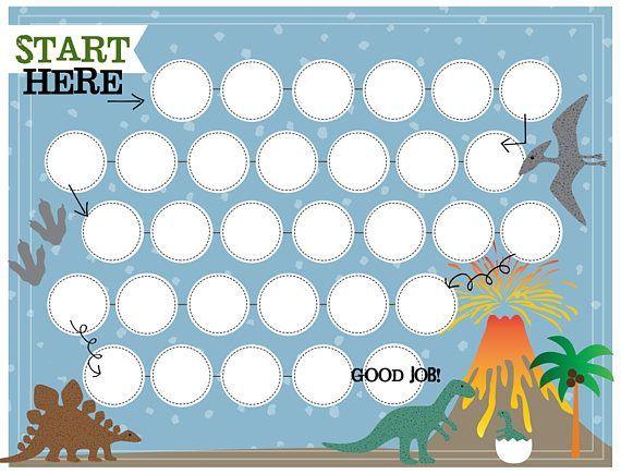 This Dinosaur Reward Chart Will Help Reinforce Your Childs Good Behavior This Chart Is Perfect For Potty T Reward Chart Kids Reward Chart Toddler Reward Chart