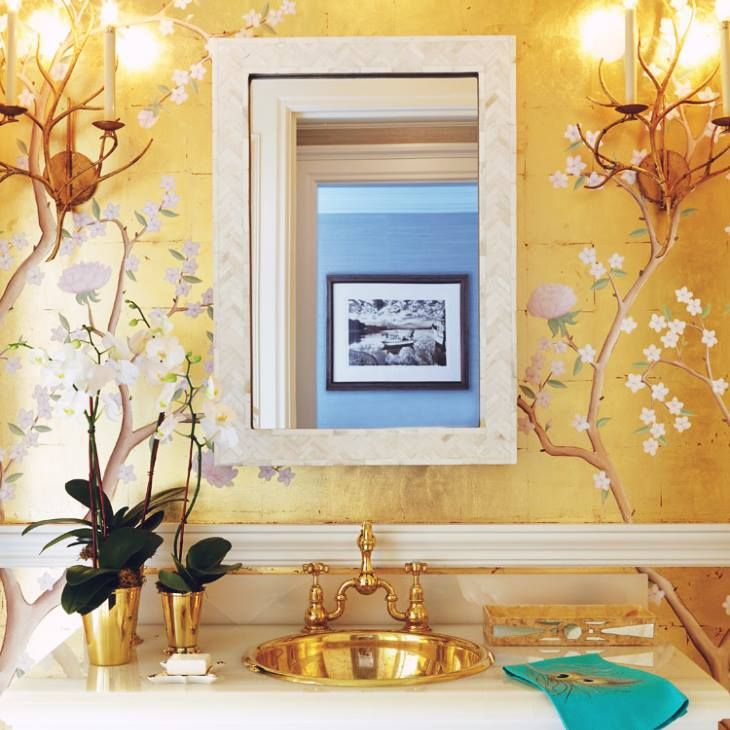 Gold basin hardware wallpaper orchids beautiful home for Wallpaper home hardware