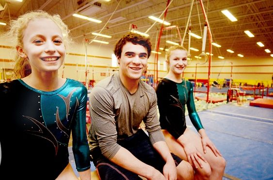 Langley Gymnastics Foundation athlete Cam Stanley is going to the Canada Winter Games in Prince George next month, while his club-mates Haley Biggin (left) and Ally Armstrong are in Trois Rivieres, Que., where they are competing in Canada Elite. a national meet that starts Jan. 29 and runs until Feb. 1