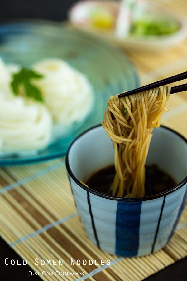 Cold Somen Noodles   Easy Japanese Recipes @JustOneCookbook (Nami) (Nami) (Nami)