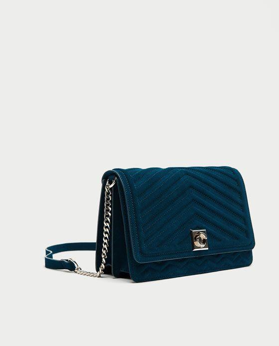 SPLIT SUEDE MAXI CROSSBODY BAG from Zara