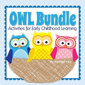 Owl and fall fun!  This best-selling owl activity bundle is now NEW and IMPROVED with more great learning resources for your preschool and kindergarten classroom.  This 70 page money-saving bundle includes the following:Owl Color SortThis interactive color sorting set now includes ten colors and 3 sizes of owls for additional opportunities to explore early childhood pre-math and math concepts.