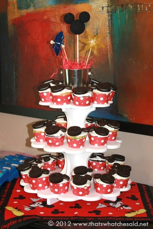 mickey mouse cakes at walmart | Mickey Mouse Cupcake Tower
