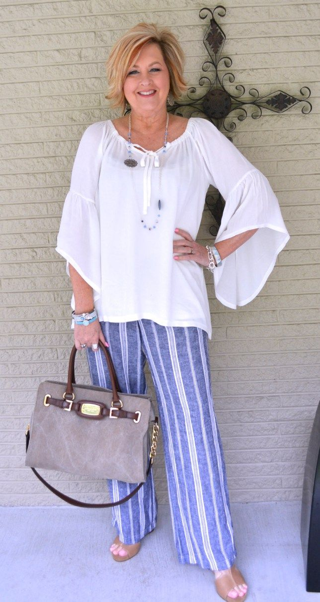 50 Is Not Old   Linen Pants   Spring Outfit   Fashion over 40 for the everyday woman