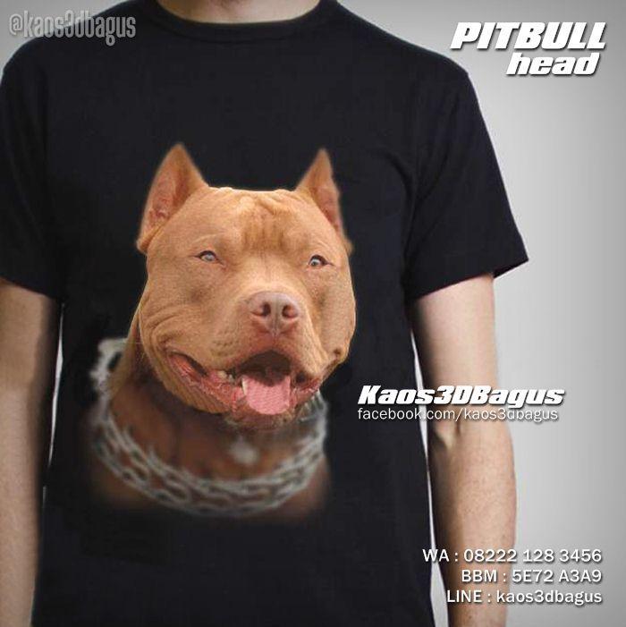 Kaos PITBULL DOG, Kaos DOG LOVER, Kaos3D, Animal Lover, https://www.facebook.com/kaos3dbagus, WA : 08222 128 3456, LINE : Kaos3DBagus