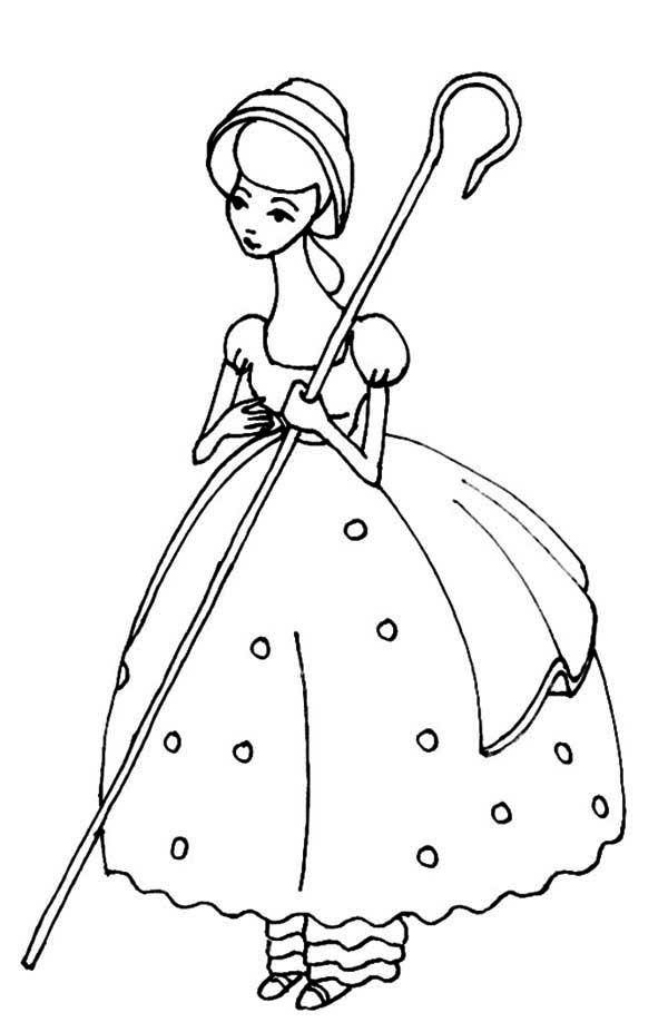 Bo Peep Coloring Pages For Kids Printable Toy Story