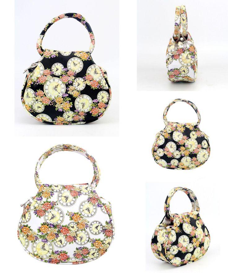 [Visit to Buy] Women Flower Clock leather Shoulder Bag Satchel Handbag Retro Messenger Bag  mulheres couro bolsa sacos mulheres mensageiro #Advertisement