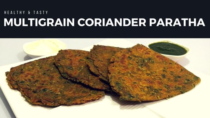 Mix Grain / Multigrain Coriander Paratha Recipe in Hindi by Cooking with...