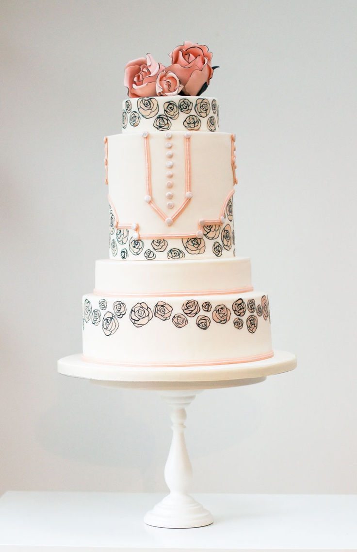 Art Deco cake by Rosalind Miller Cakes