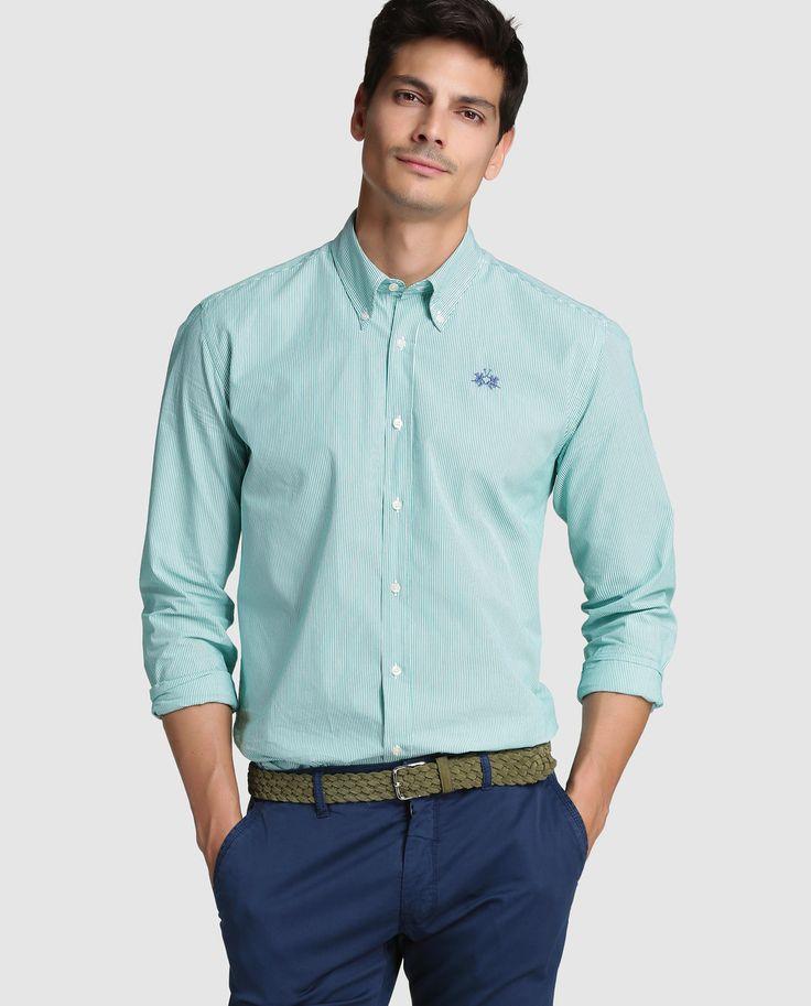 Camisa de hombre La Martina regular de rayas verde · La Martina · Moda · El Corte Inglés