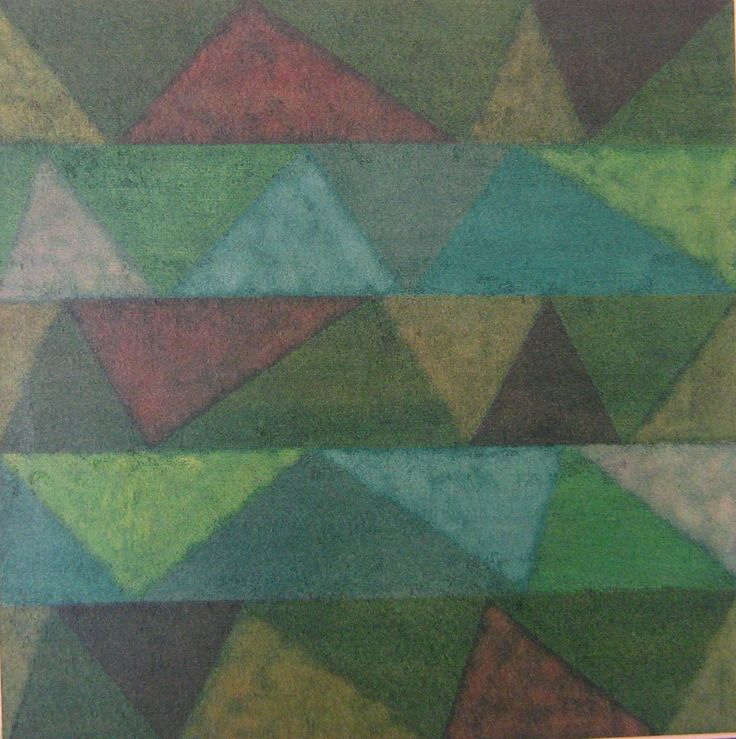 Stefano d'Andrea - pastelli a olio su carta - cm. 45 x 45