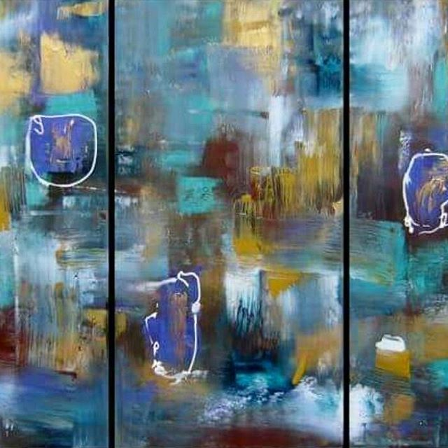 Past work from my portfolio , a 3 piece  on canvas. Sold. Custom requests/commissions welcome. ▪▪▪ #abstractart #painting #abstractpainting #abstractartist #instaartist #instaart #australianartist #ipswichart #canvaspainting #colourfulart #contemporaryart #triptych #commission #artofsej #artcollector #buyart