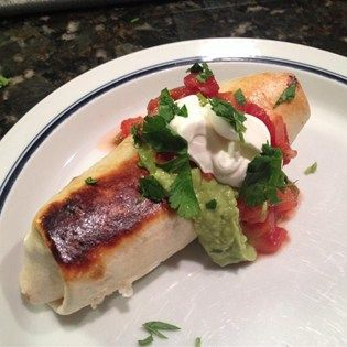 """Chicken and Mushroom Chimichangas I """"Quite delicious and very easy to make. I love how crispy they were on the outside with the ooey gooey yummy center."""""""