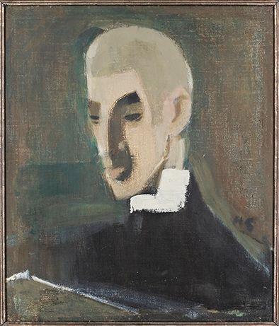 Helene Schjerfbeck - Vuokraisäntä nuorena 1926 (Didrichsenin taidemuseo)