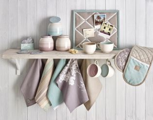 Pastel Kitchen Accessories: Set Of 5 Tea Towels From Next