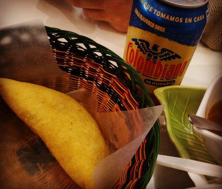 Empanada from Ave Maria Colombian restaurant in Korea town Toronto