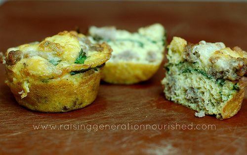 Spinach & Sausage Egg Muffins :: Gluten Free, Dairy Free, Nut Free