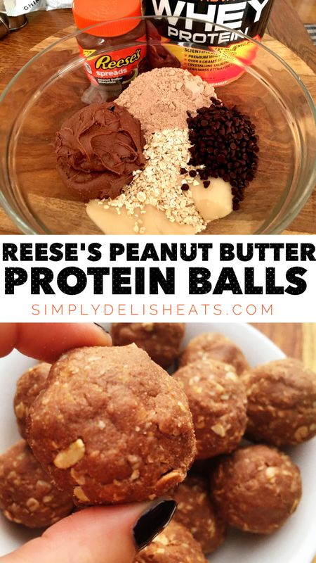 Reese's Peanut Butter Cup Protein Balls - so easy and dangerously good! | SIMPLY DELISH EATS ...