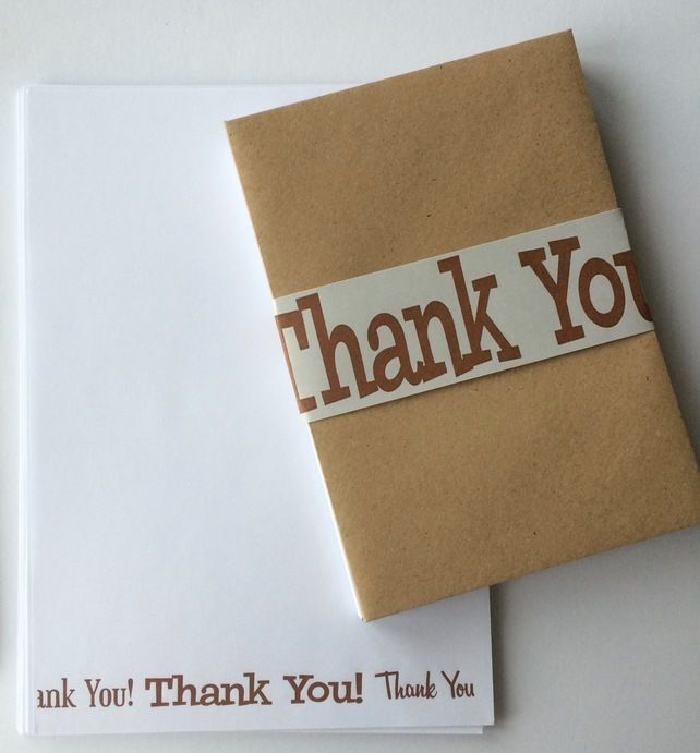 Thank You Stationery Letter Set £7.00