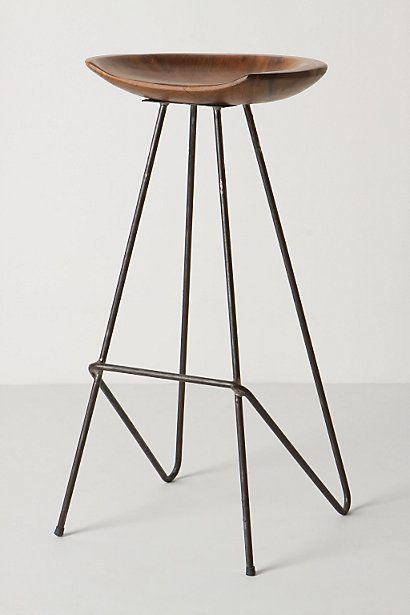 Perch Barstool from anthropologie.com. Additional seating for dinging room table that normally accommodates 4 people in our small place, but that extends to 6 people max.