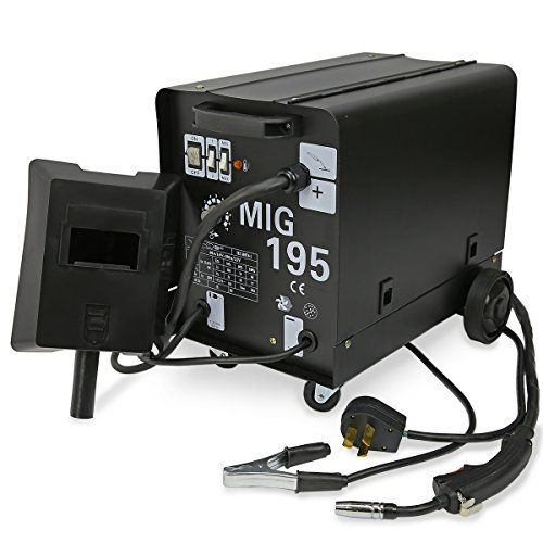 MIG Series Gas-Less Flux Core Wire Welder Welding Machine Automatic Feed Unit DIY (MIG-195) by XtremepowerUS