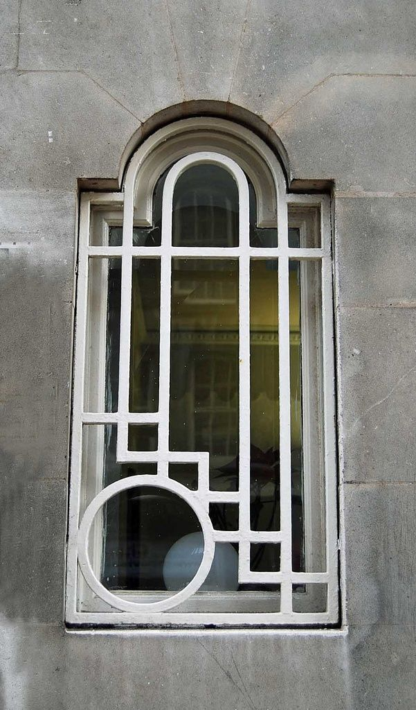 awesome Art Deco Window   Princess Court, Queensway, Notting Hill, London, England, GB -...