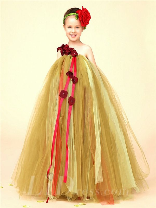 Wedding Flower Girl Dress Little Girls TuTu Skirt