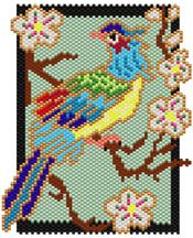 Chinese Bird  Pattern at Sova-Enterprises.com Lots of Free Beading Patterns and tutorials are available!