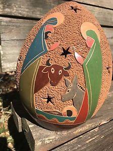Nativity Set ~Mary,Joseph & Jesus, Donkey & Cow ~ Candle Holder ~Christmas Gift    eBay