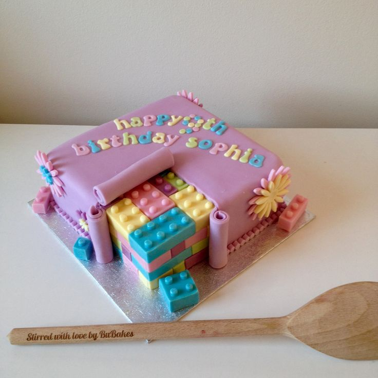 100% edible Lego Friends birthday 'inside suprise' cake by www.BuBakes.co.uk For more creations, tips and competitions like us at Facebook.com/bubakes