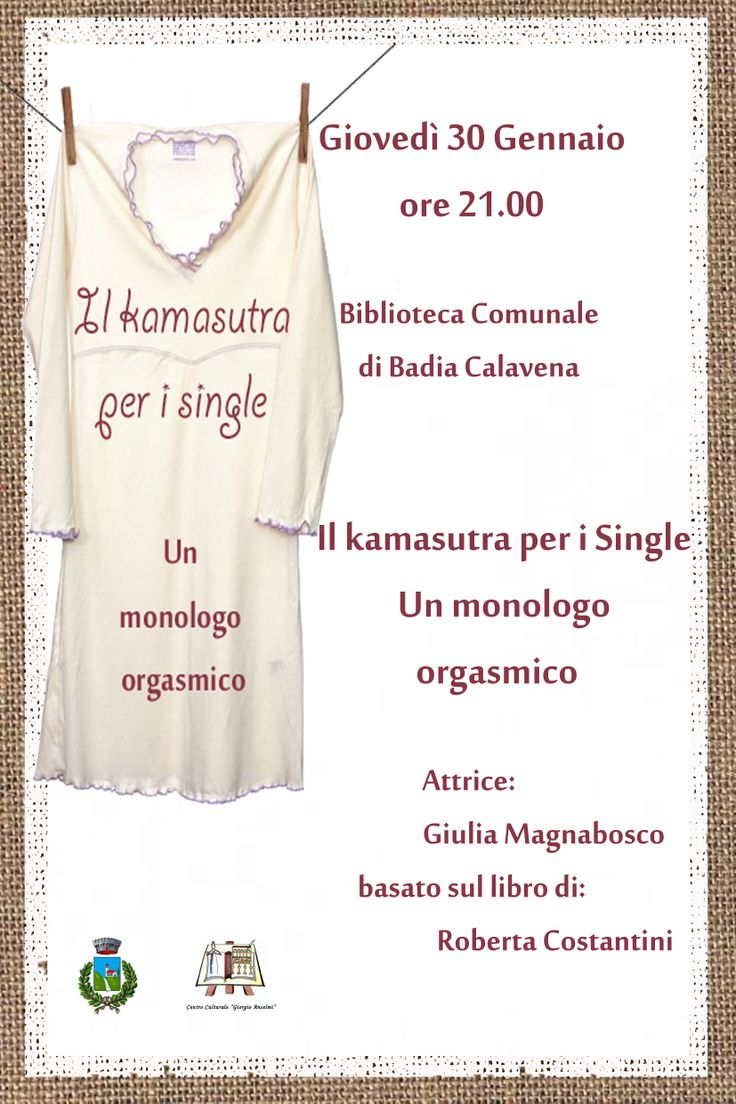 "Newsletter for ""The kamsutra for single"" event - Book presentation by a theatrical monologue. (Printing format)"