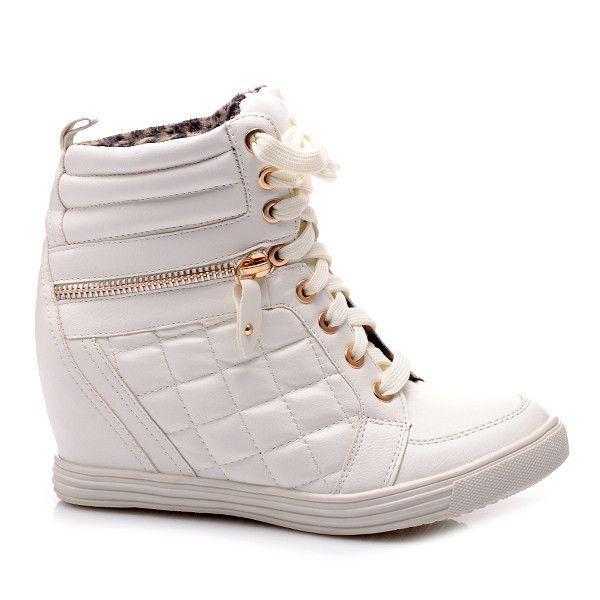PIKOWANE SNEAKERSY SP9937-1W /S2-38P - biały > CzasNaButy.pl > buty i torebki