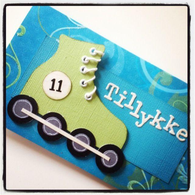 Rollerskate card